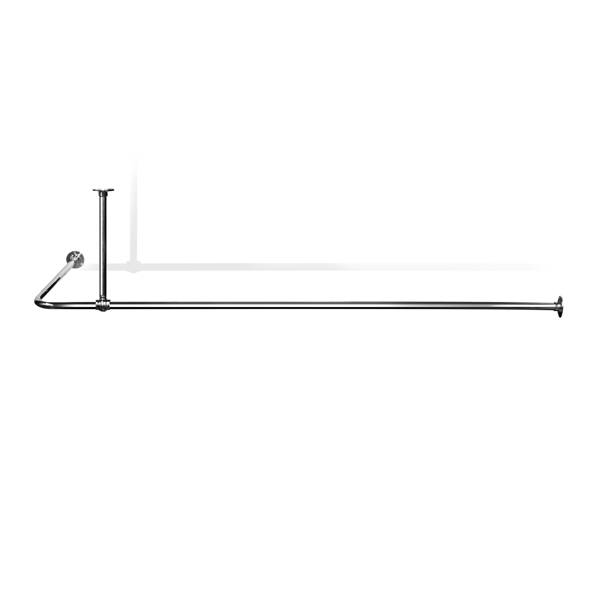 L Shaped Shower Curtain Rail LSR2 Shower Curtain Rails from ...